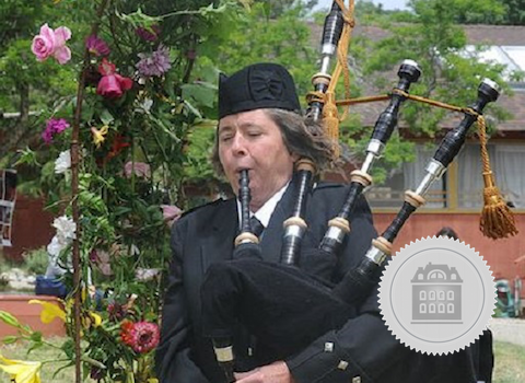 Elise MacGregor Ferrell, California bagpiper for hire