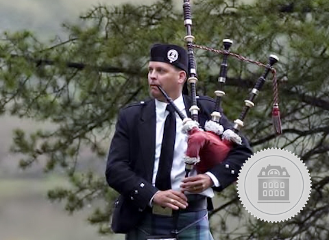 Michael Lancaster, bagpiper for hire