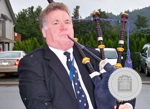 Robert Stewart, bagpiper for hire