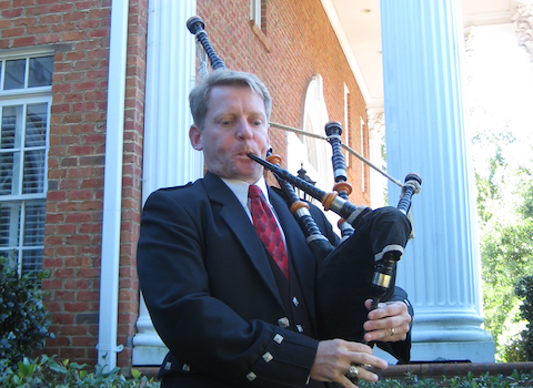 Bill Nuttall, bagpiper for hire