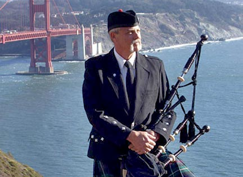 Fred Payne, bagpiper for hire