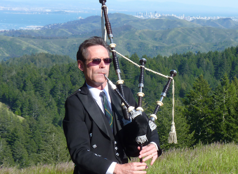 Jeff Campbell, bagpiper for hire