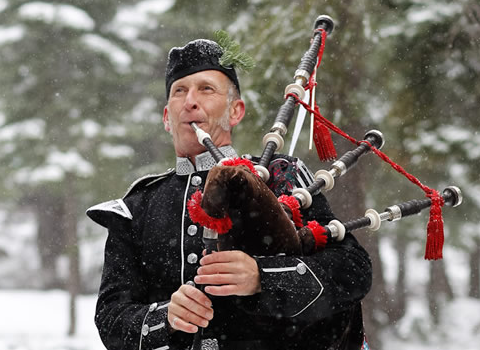 Nick Theriault, bagpiper for hire