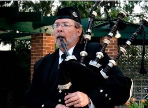 Randy Arent, bagpiper for hire