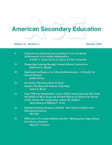 Emotional Intelligence for School Administrators: A Priority for School Reform?    American Secondary Education