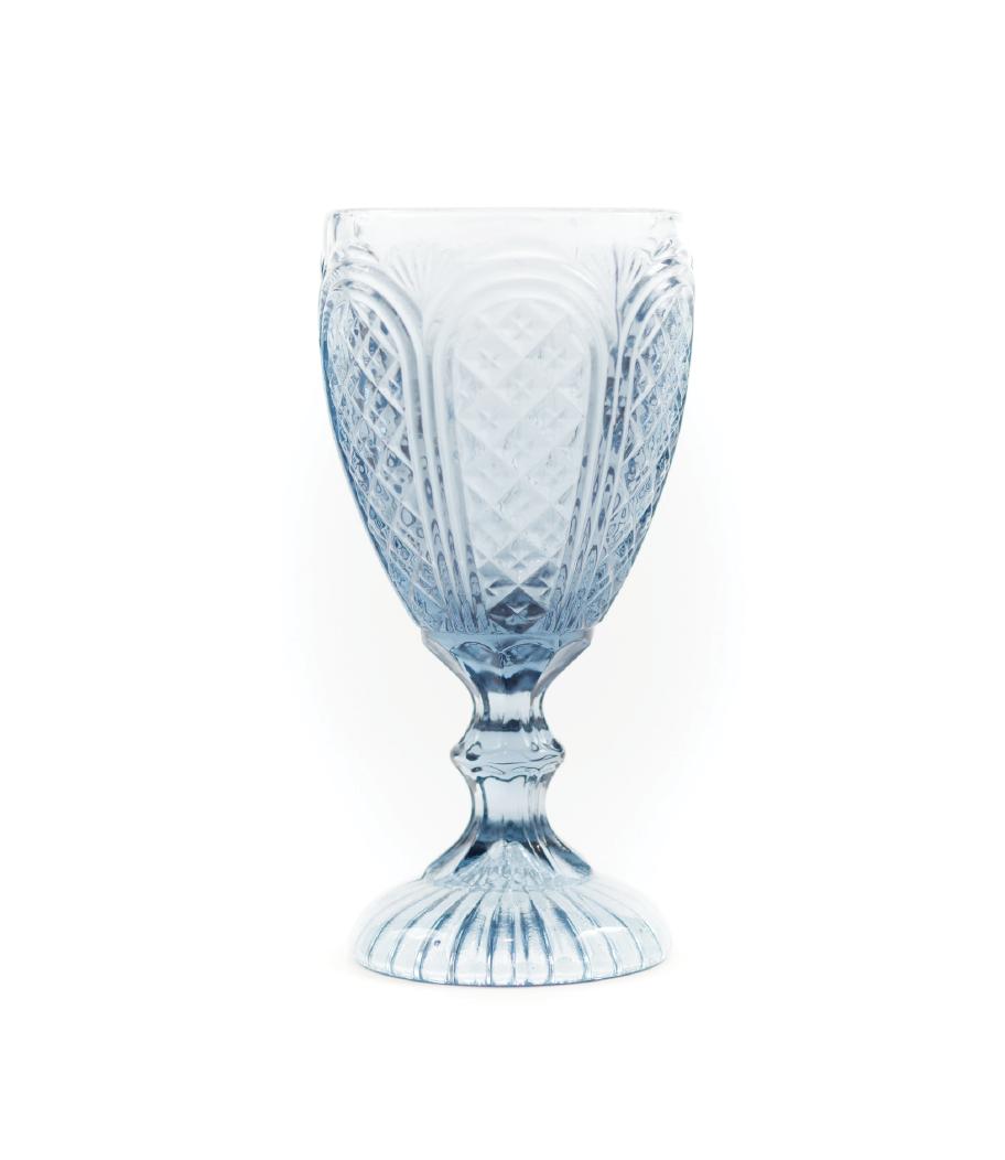 Blue Carousel Goblet