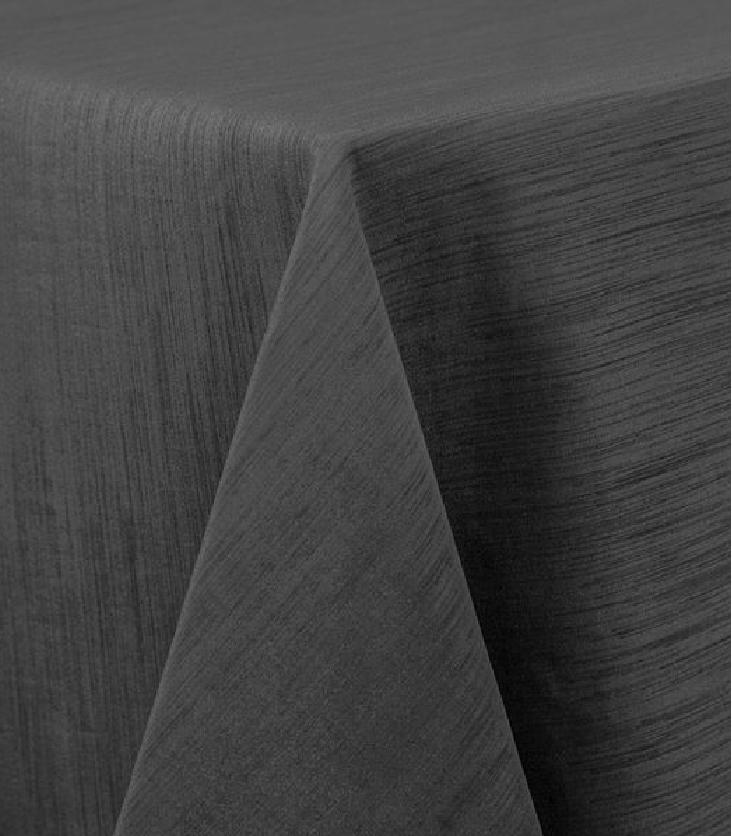 Charcoal Raw Silk