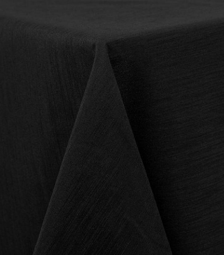 Black Raw Silk