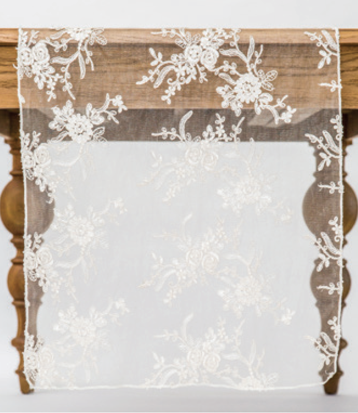 Ivory Blossom Lace Runner