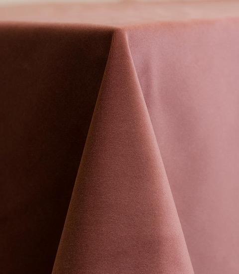 Blush Velvet Tablecloth