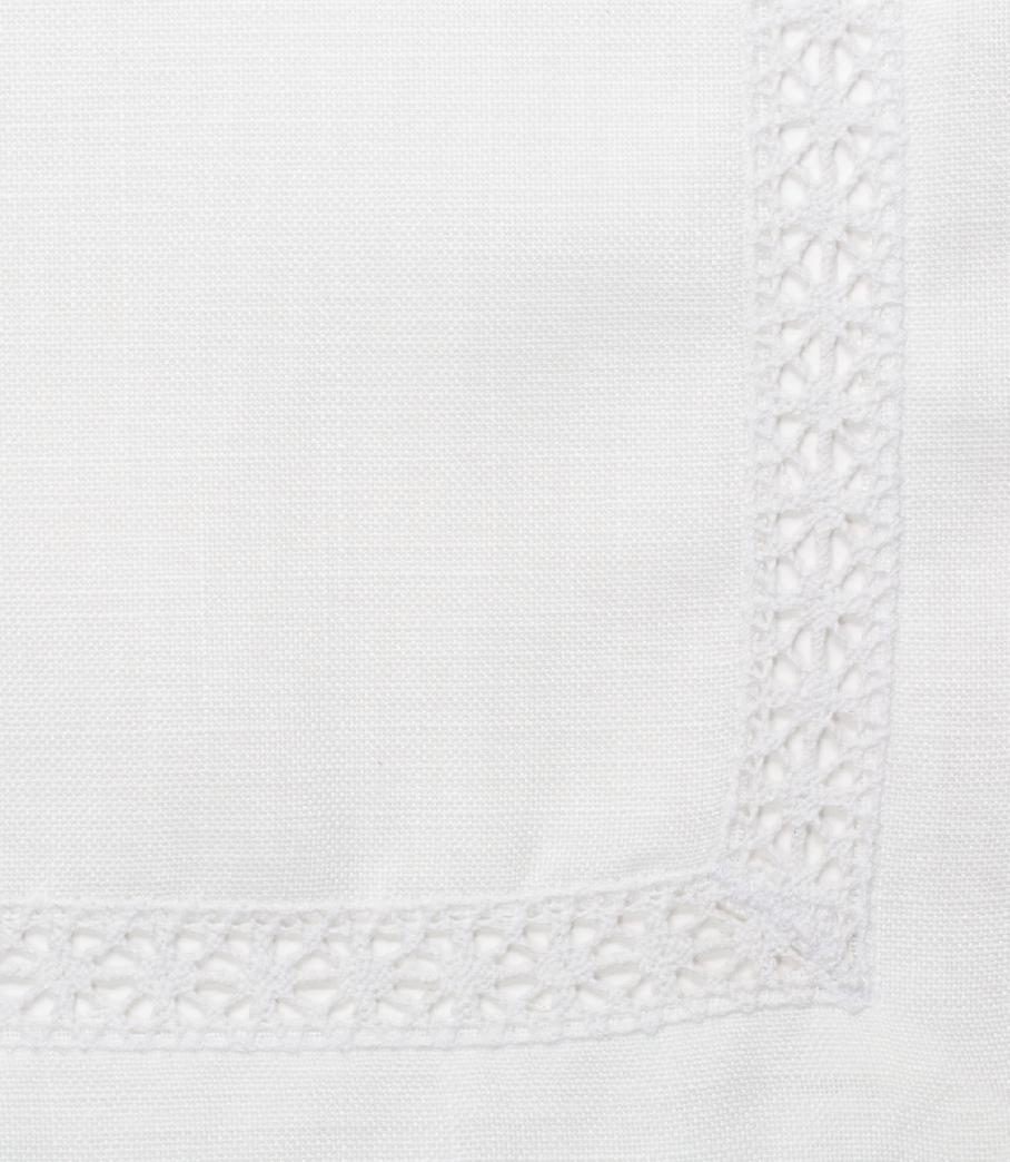 White Crochet Linen Napkin