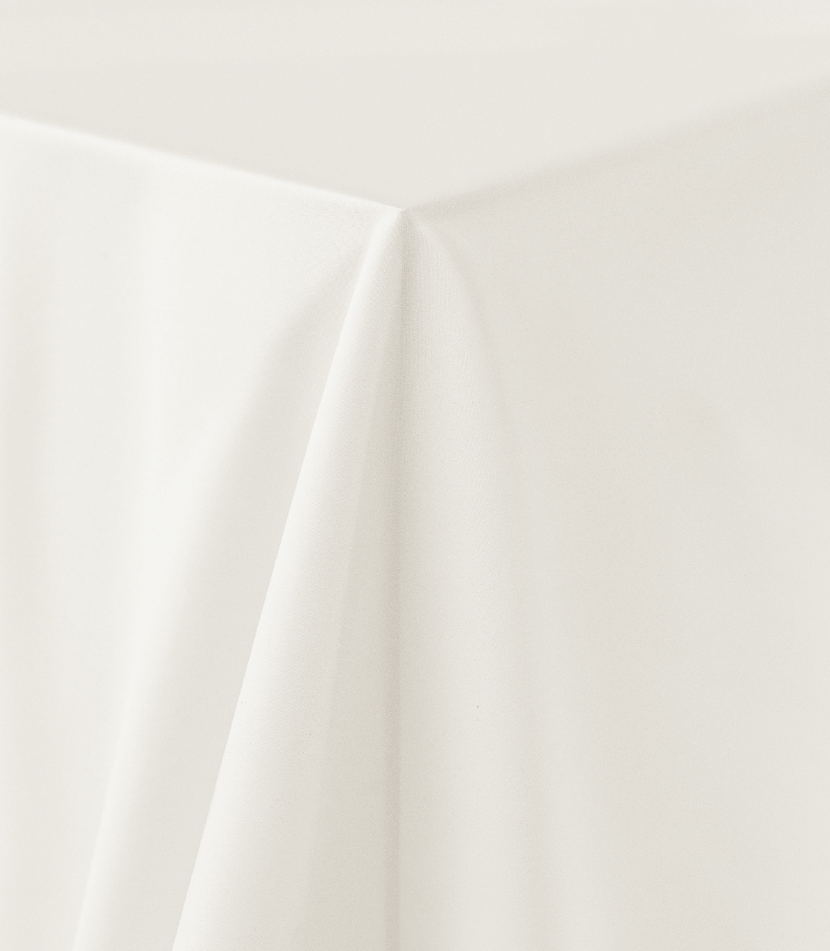 Ivory Matte Satin Tablecloth