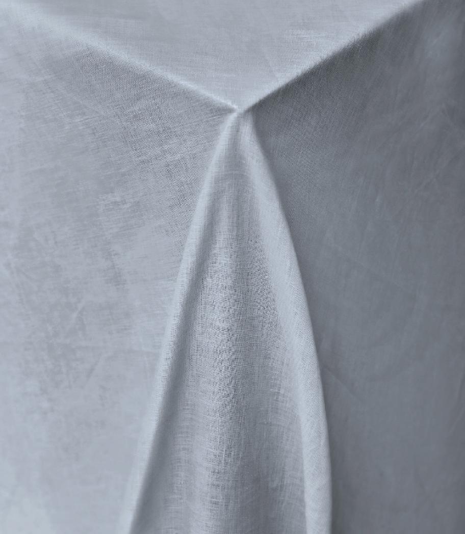 November Skies Pure Linen Tablecloth