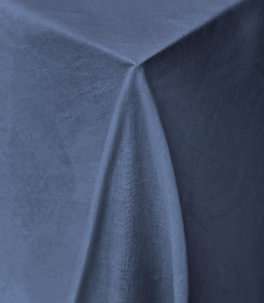 Navy Pure Linen Tablecloth