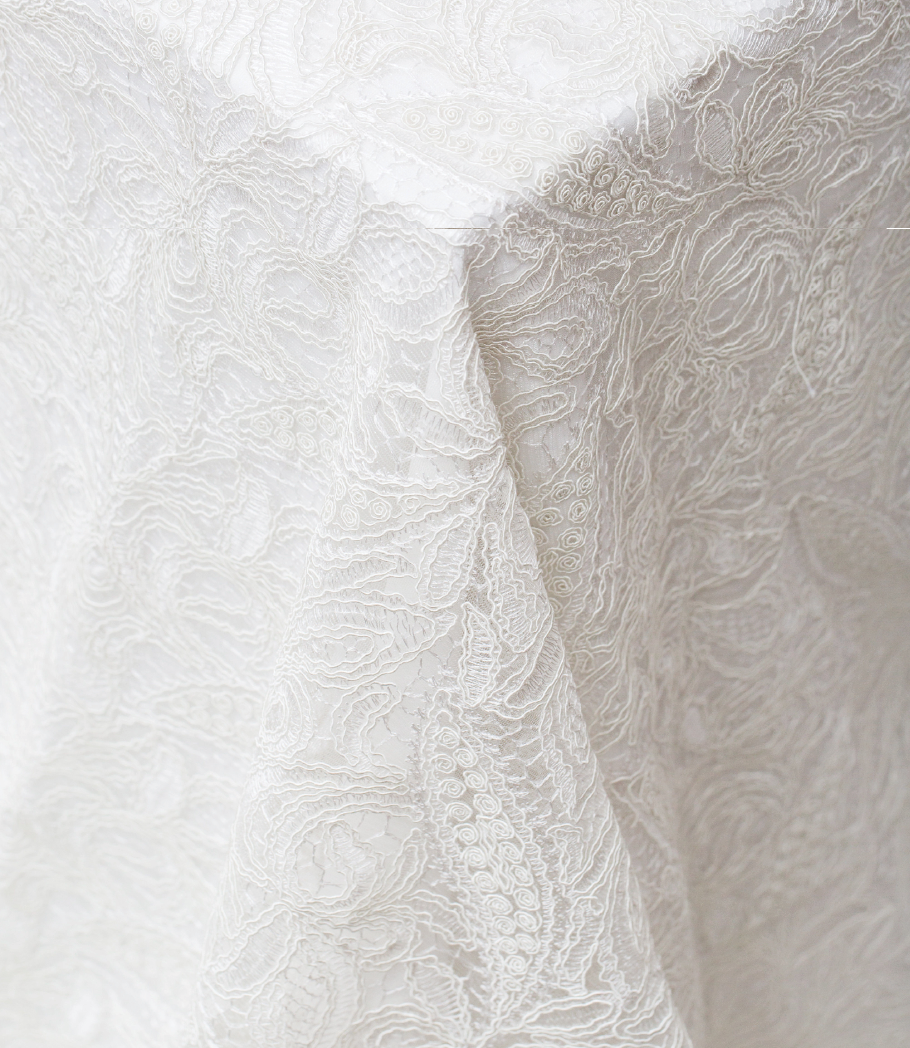 White French Lace Overlay
