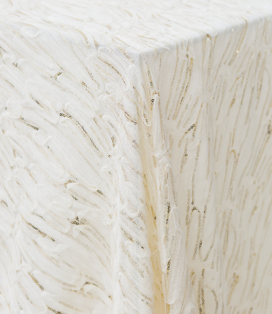 Ivory Brilliant Sheer Overlay