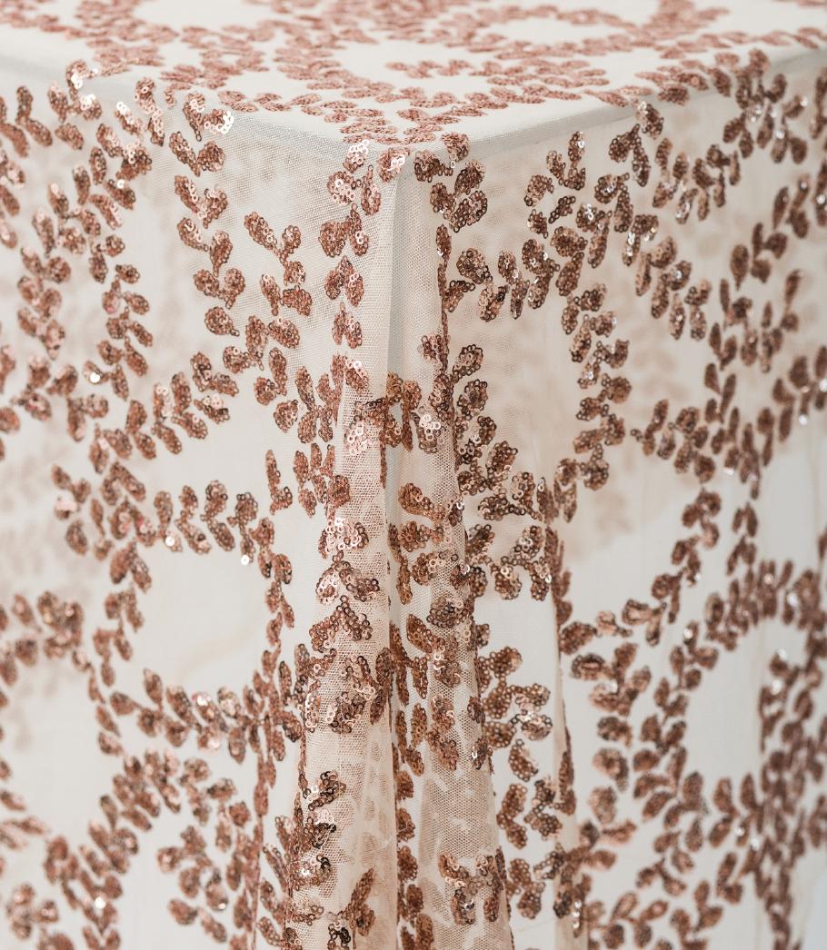 Laurel Rose Gold Sequin Overlay