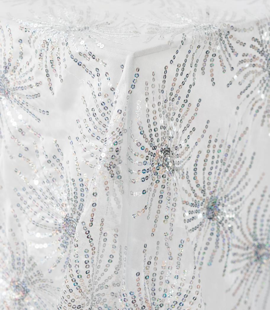 Silver Starburst Sequin Overlay