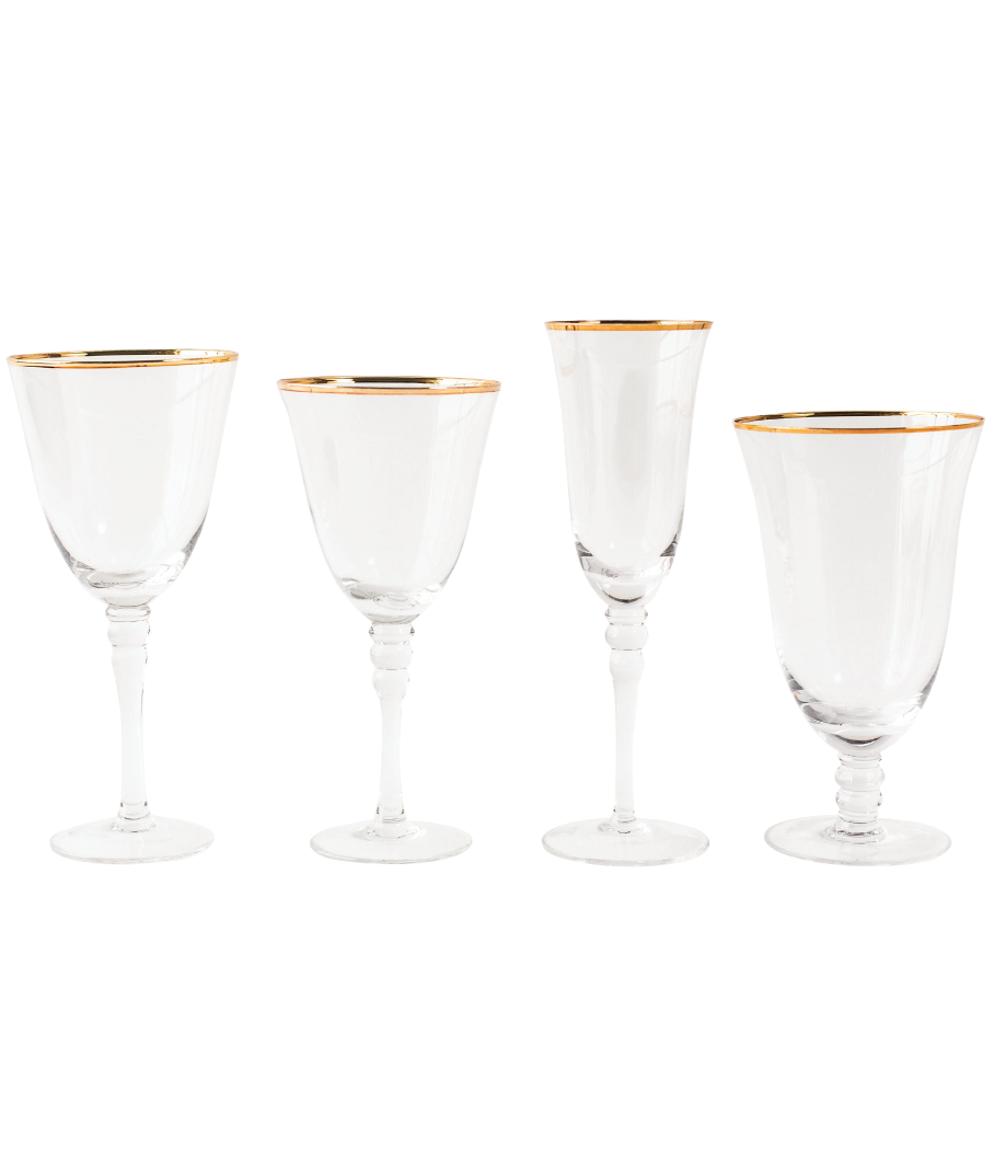 Grace Gold Rim Glassware