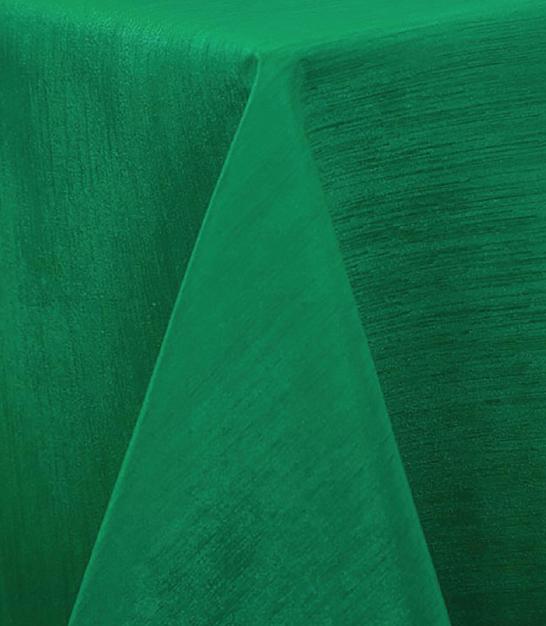 Kelly Green Raw Silk Tablecloth