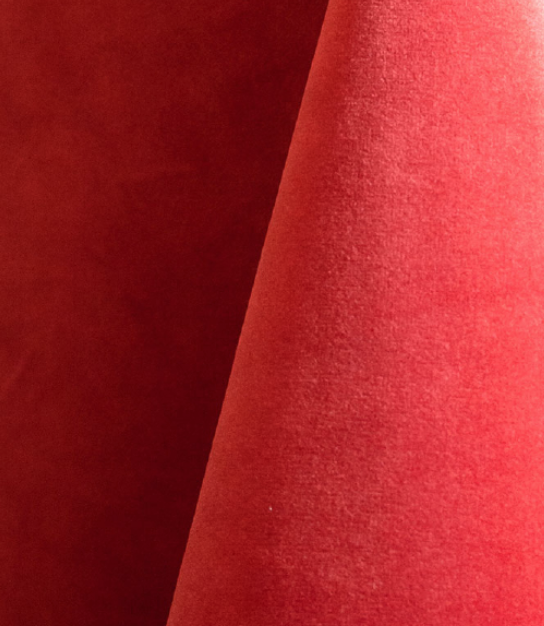 Coral Velvet Tablecloth