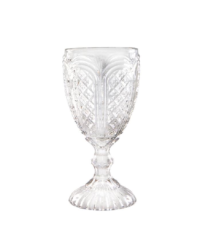 Clear Carousel Goblet