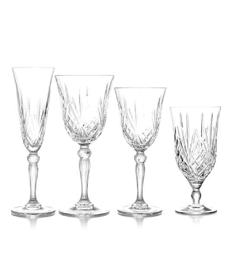 Scarlett Crystal Cut Glassware