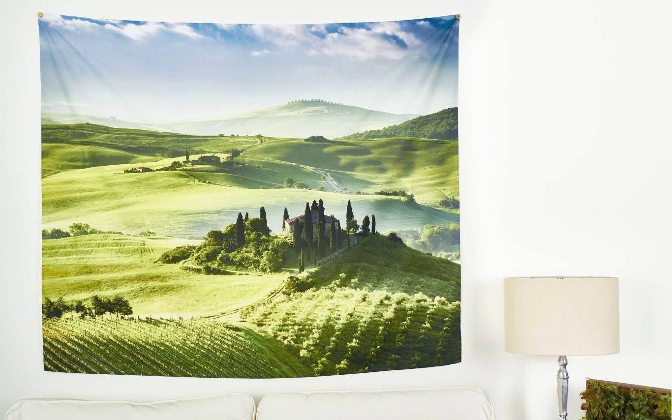 6. Wall Tapestries - A wall tapestry is a really universal piece of artwork that can be used in so many different ways throughout a home. Having a custom one made from your stunning landscape photographs is a perfect way to share your work with friends. We love the idea of sending this to friends abroad, as they can be quite light and easy to ship compared to traditional prints. Shop custom tapestries here.Photo: Collage