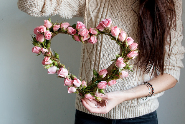 hanging flower heart diy - Source: A Pair and a Spare DIYYou might automatically think of flowers when you think of Valentine's Day, but you don't have to just limit them to a vase! Make a hanging flower heart for your next photoshoot for a creative way to showcase floral arrangements. Bonus? This DIY looks just as good dried as it does fresh!