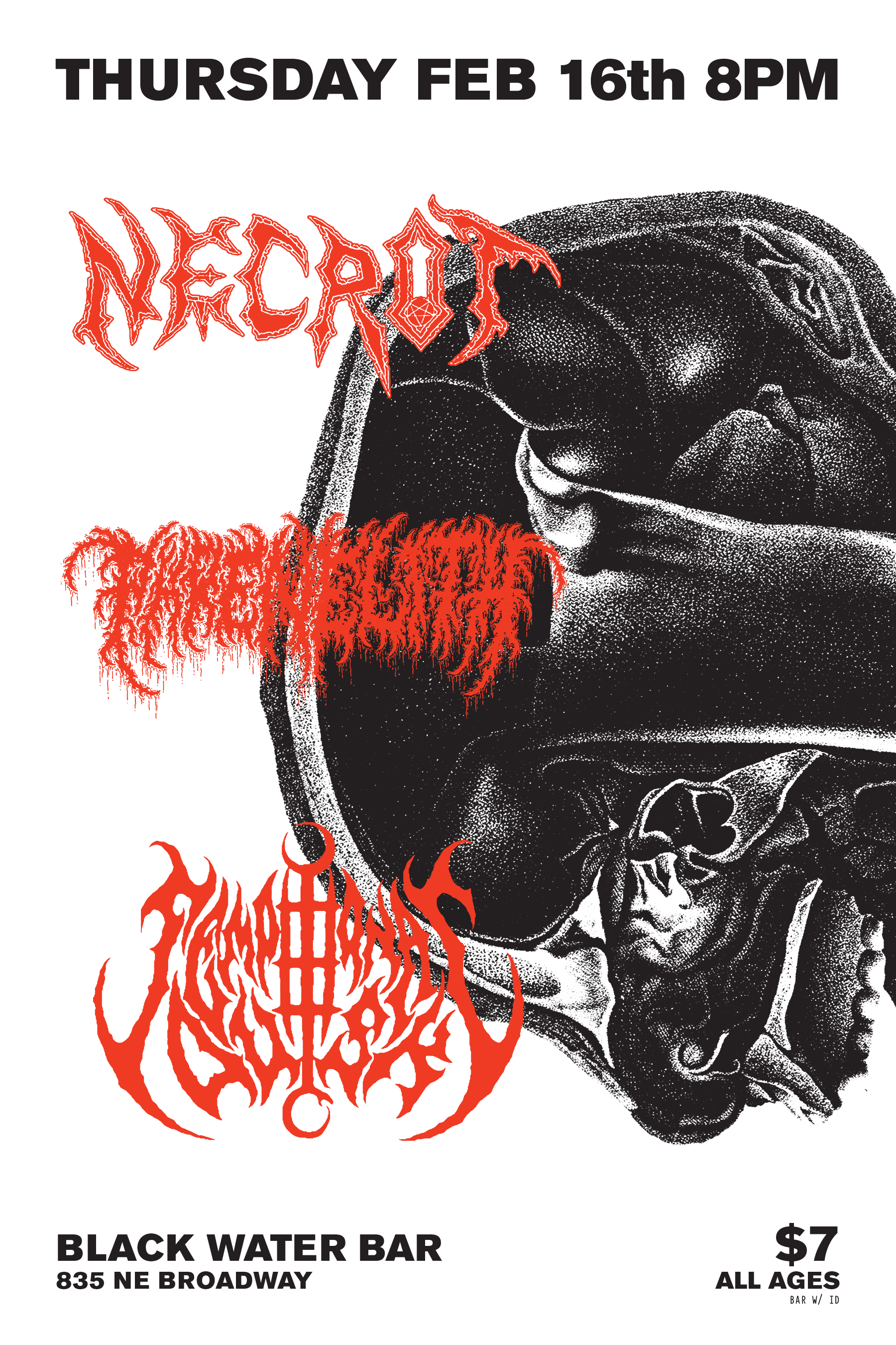 Necrot / Phrenelith Poster