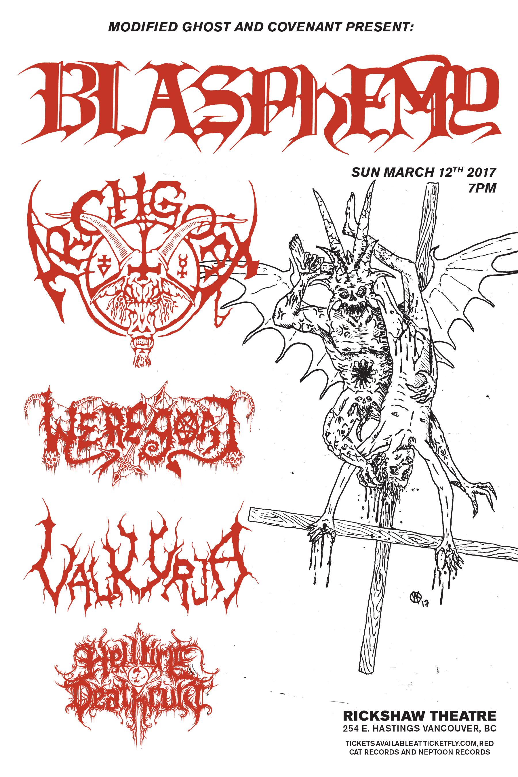 Blasphemy / Archgoat Flyer