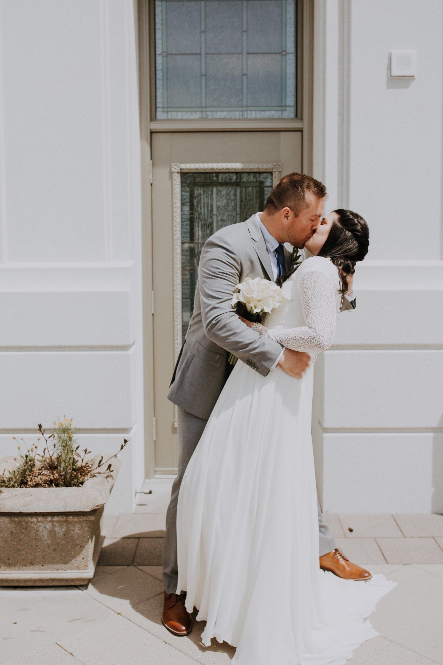 Brigham Temple wedding