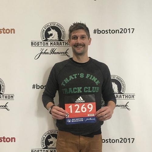 Doug is racing the Boston Marathon this April.