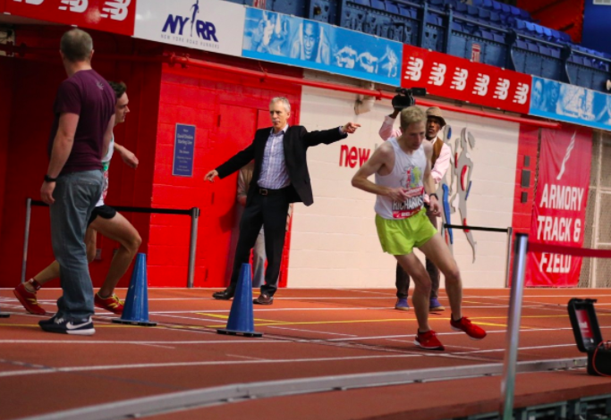 Richards, turning 180 degrees, at the hour mark. Photo: Armory Track