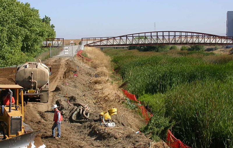 The San Thomas Aquino trail under construction. Photo:  SF Bay Trail