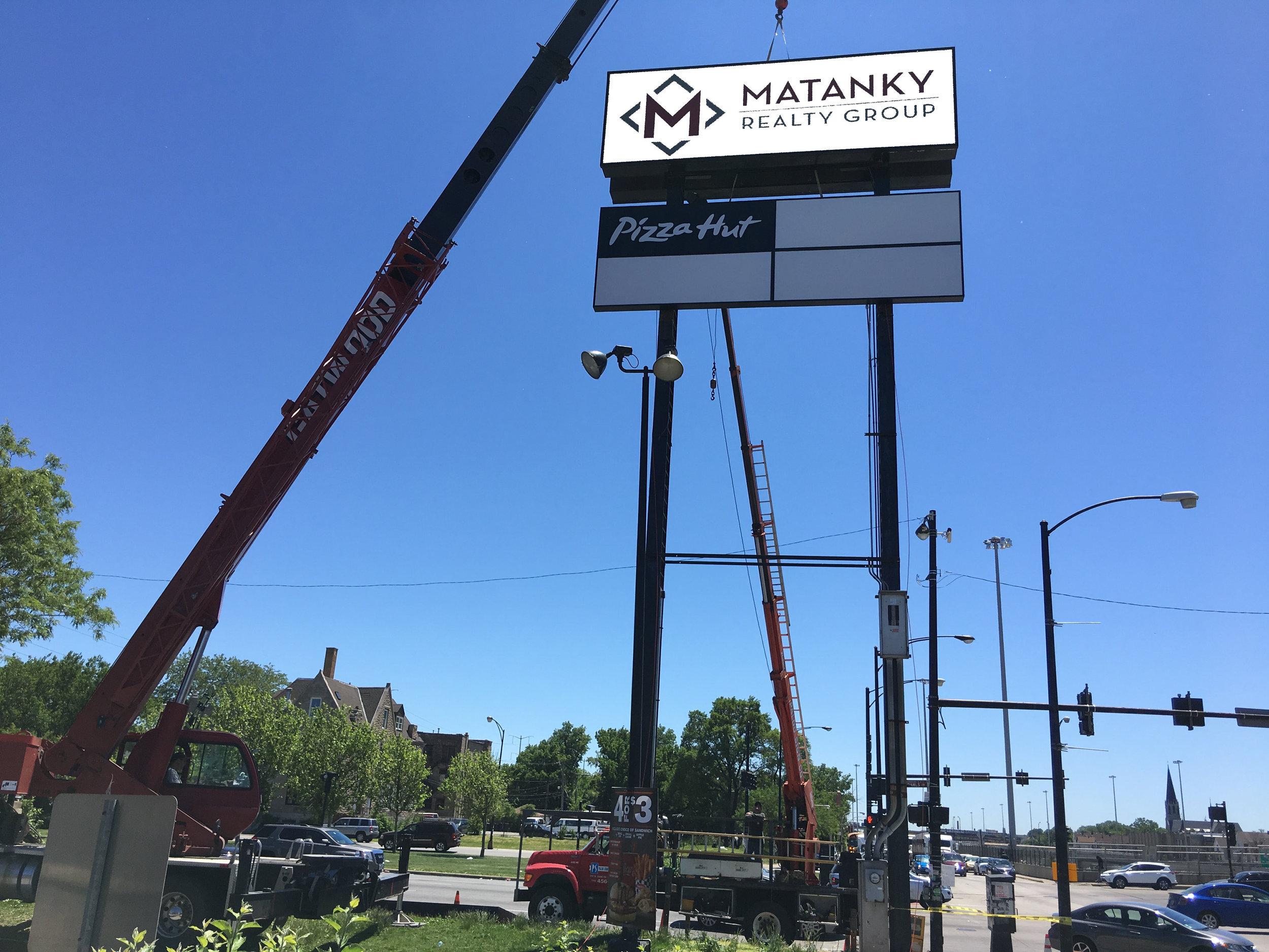 Matanky Sign Installation