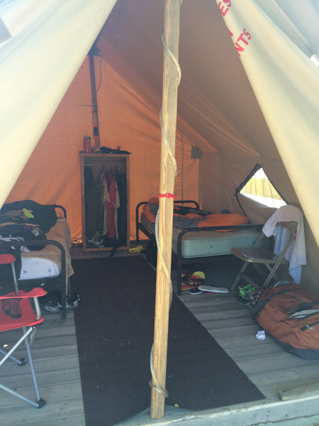 Inside view of typical tent