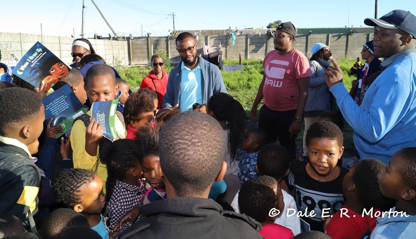 Rick on a trip to South Africa where he presented and gifted copies of  When I Grow Up.