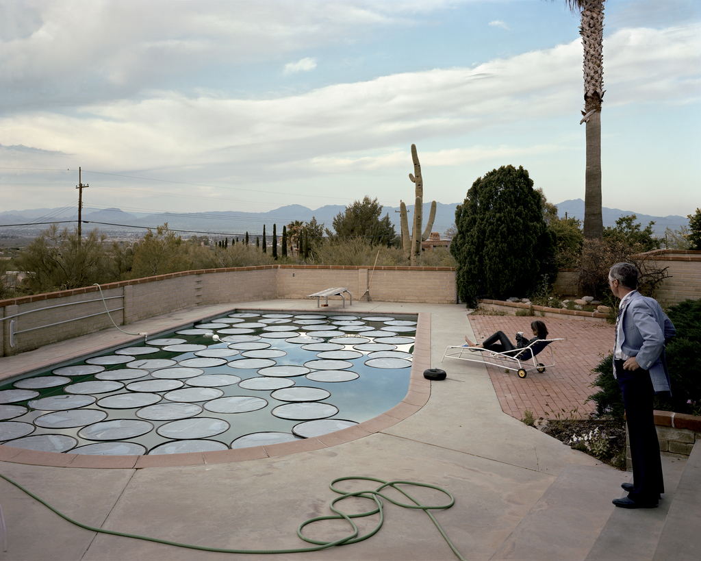 Joel Sternfeld,  Solar Pool Petals, Tucson, Arizona, April  (1979)