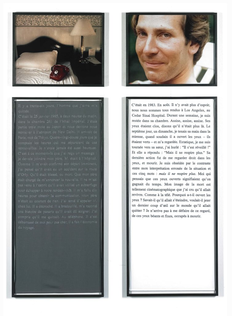 Sophie Calle,  Exquisite Pain, 38 days ago  (1984–2003)