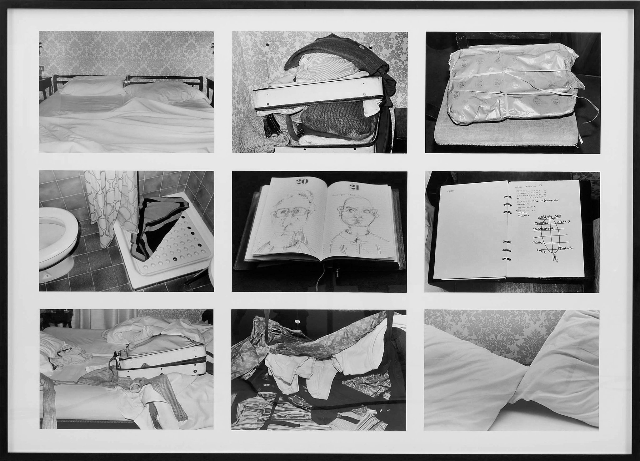 """Room 43 — February 28th,"" made by Sophie Calle posing as a chambermaid to photograph the messes left by guests."