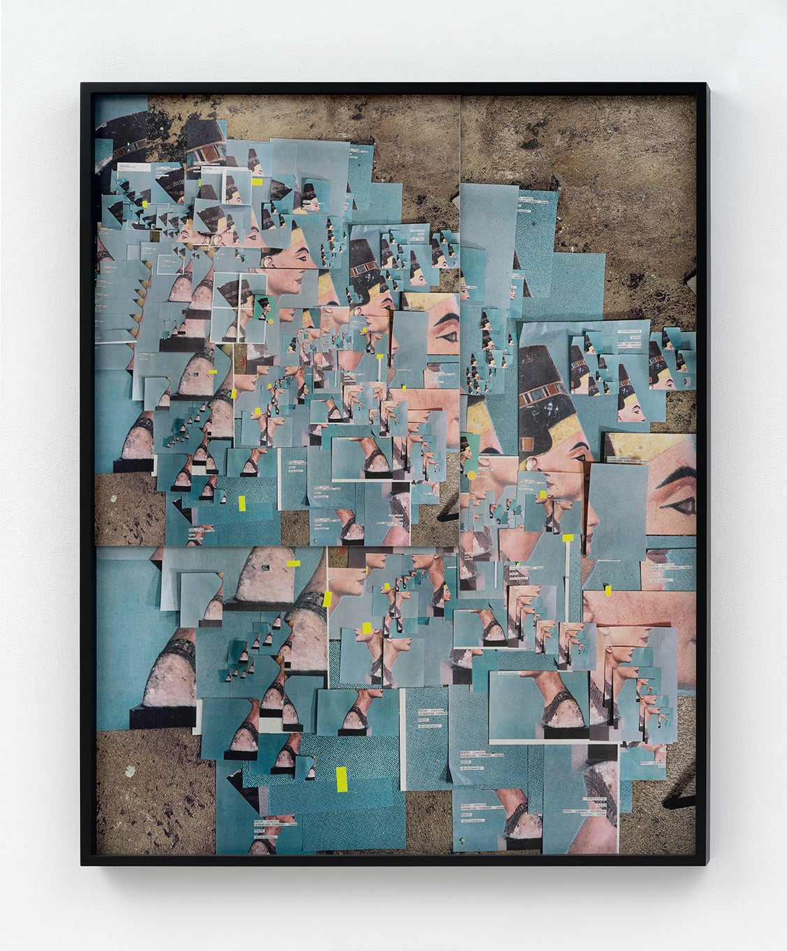 Sara Cwynar,  432 Photographs of Nefertit i, (2015), Collaged UV coated archival pigment prints mounted to Plexiglas and Dibond, 54 × 43 × 7/8 in.