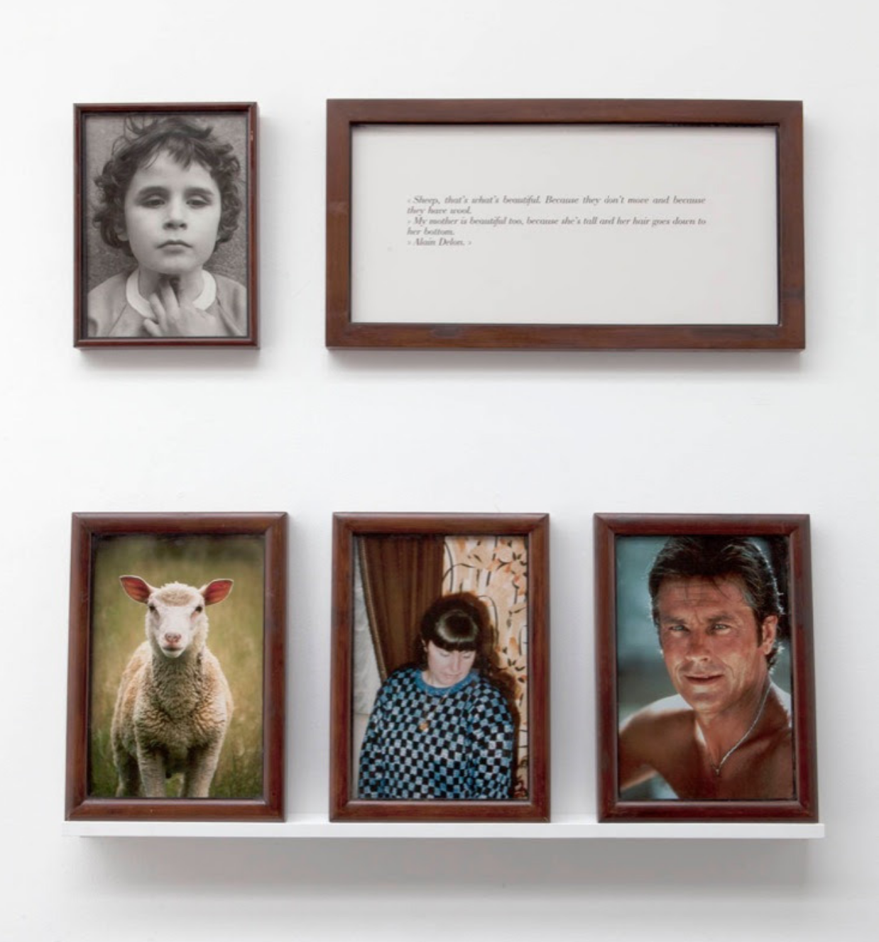 Sophie Calle,  The Blind. Sheep, Delon, my mother , (1986)