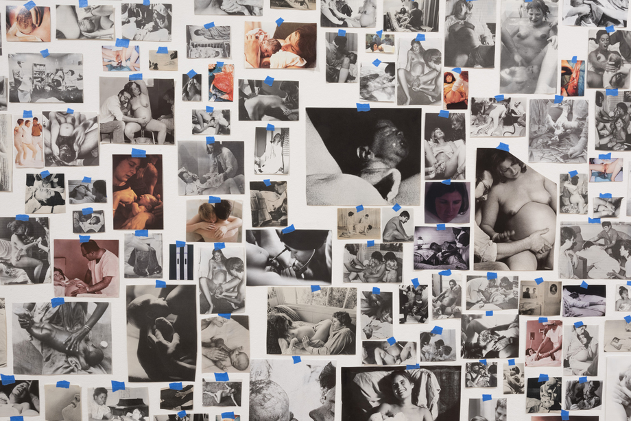 Carmen Winant,  My Birth , (2018). Found images and tape