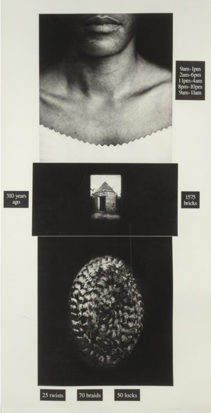 Lorna Simpson,  Counting , (1991) Photgravure and screenprint on paper