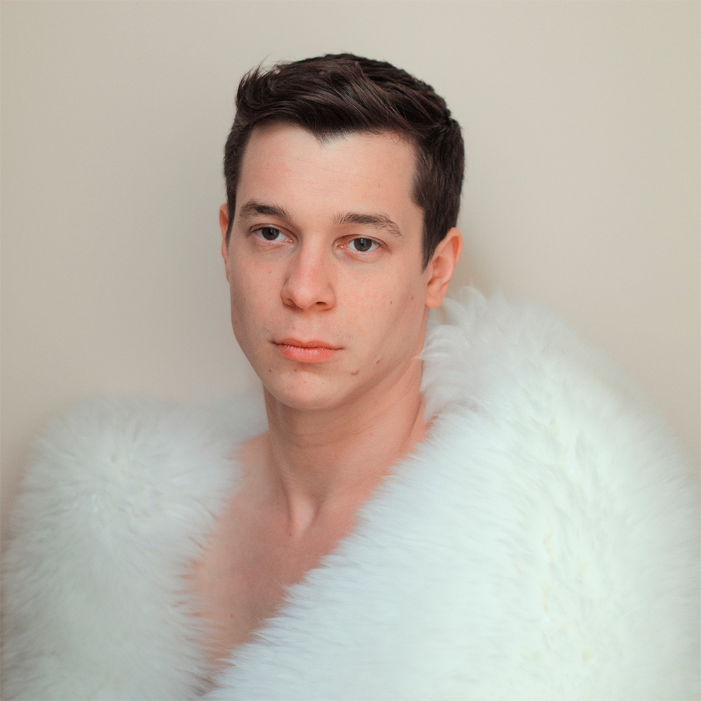 Tom Zust, Self Portrait with Sheepskin, 2015