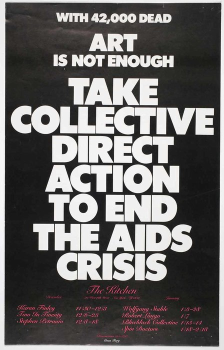 Gran Fury,  Art is Not Enough , (1988) International Center for Photography archive