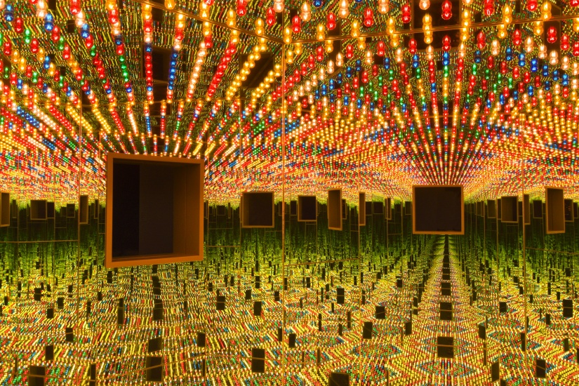 Installation view of Yayoi Kusama,  Love Forever  (1966/1994) at the Hirshhorn Museum and Sculpture Garden, 2017. Photo by Cathy Carver.