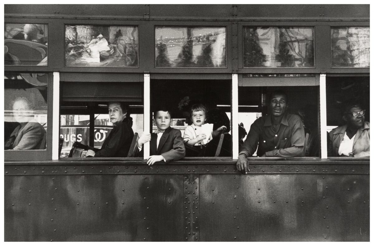 Robert Frank,  Trolley - New Orleans , (1955)