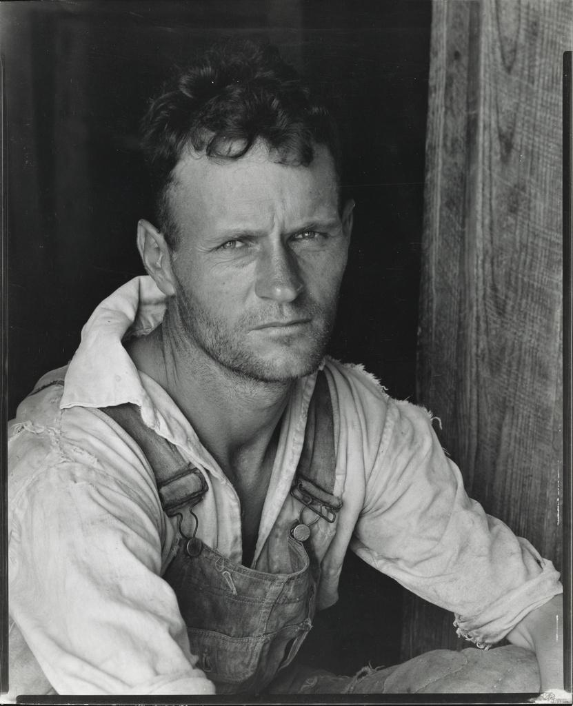 Walker Evans,  Floyd Burroughs, Hale County, Alabama  (1936)